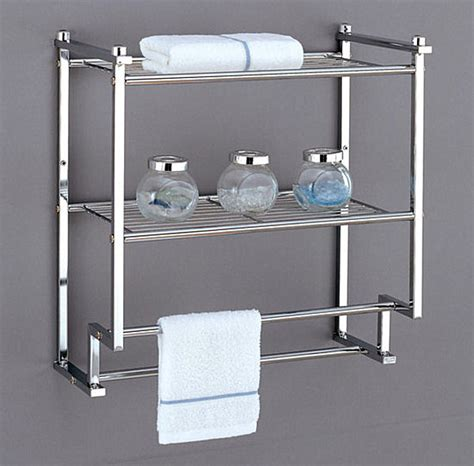 Bathroom Shelves With Towel Rack Bathroom Wall Shelves That Add Practicality And Style To Your Space
