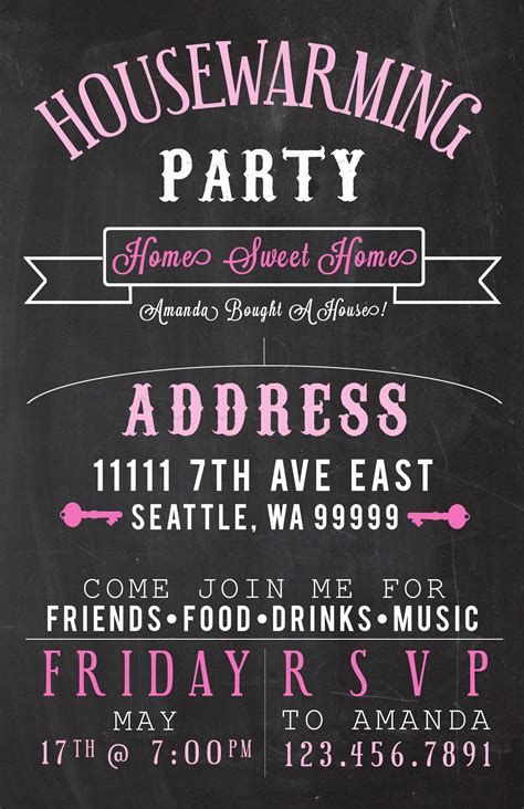 Ideas Make Them Feel Right At Home With Cool Housewarming Party Invitations And Invite Template