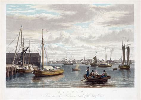 boats for sale in boston mass 1833 boston mass antique harbor view sailing ships