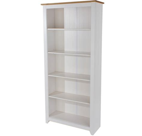 Abdabs Furniture Capri White Tall Bookcase White Bookcase