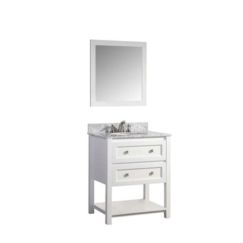 stufurhome marla 30 in w x 22 in d vanity in white with