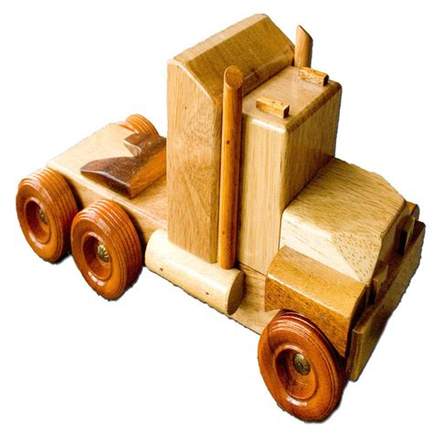 Handmade Wood Toys - ct3 b handmade wooden truck country toys