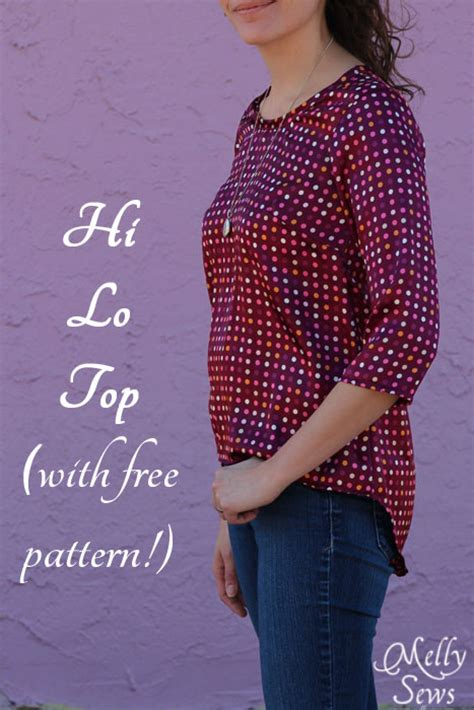 free pattern jersey top high low shirt tutorial and pattern melly sews