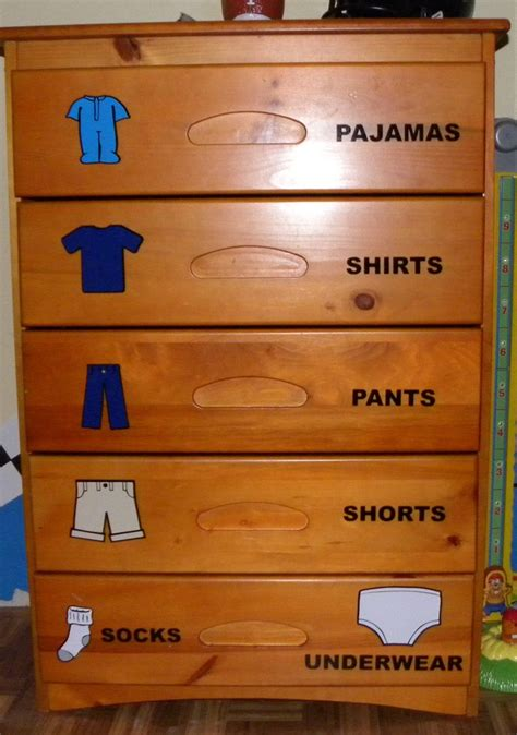 boys bedroom dresser 68 best images about labels for clothes drawers on