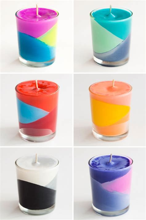 color candles use crayons to create color block candles brit co