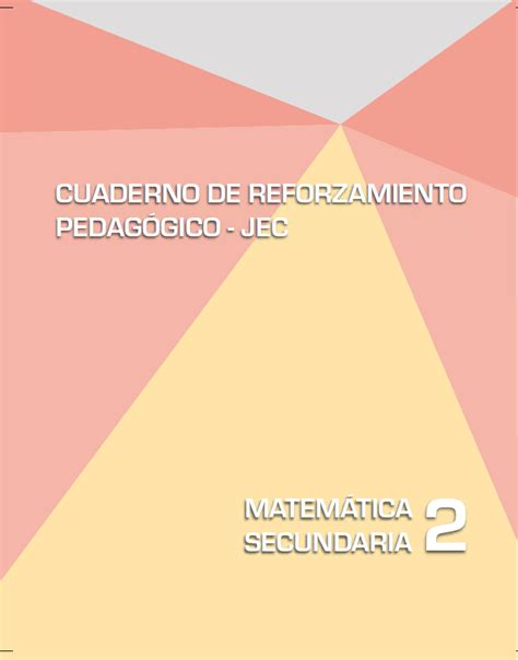 jec materiales de matematica matem 225 tica 2 cuaderno de reforzamiento pedag 243 gico jec