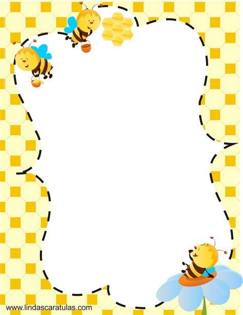 printable bee stationery www lindascaratulas com las abejas sociedad en la