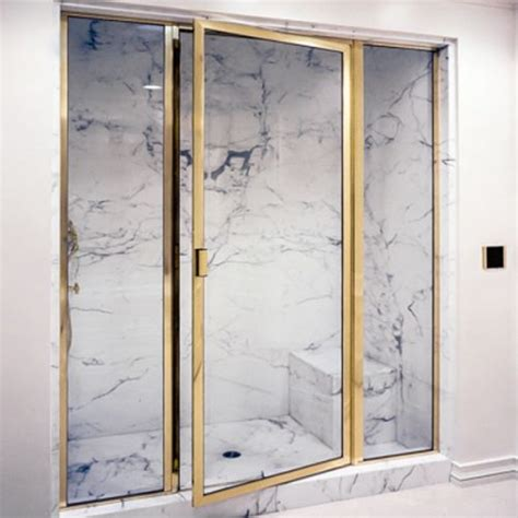 Brass Shower Doors Brass Framed Shower Enclosures From Schicker Luxury Shower Doors In Concord