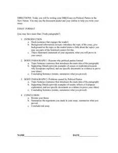 Exles Of Dbq Essays by Dbq Essay Outline Exploration