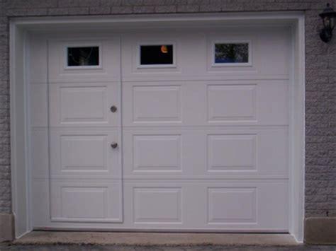 garage door with a door portesmg garage door montreal 514 894 3553