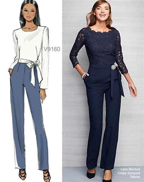 jumpsuit pattern vogue sew the look vogue patterns v9160 jumpsuit sewing pattern
