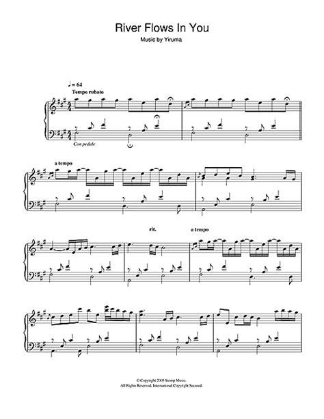 tutorial piano yiruma river flows in you partition piano river flows in you de yiruma piano solo
