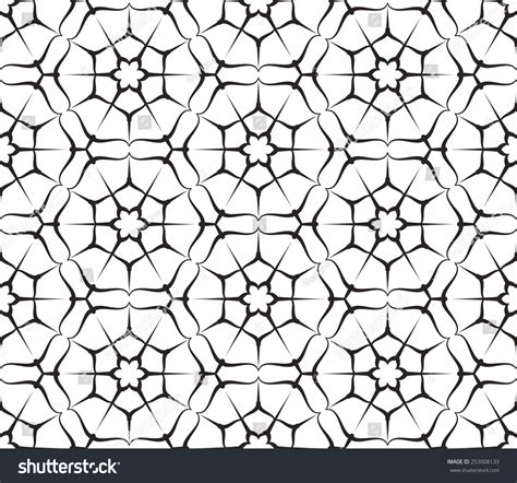 seamless hexagon pattern seamless pattern hexagon stars vector abstract stock