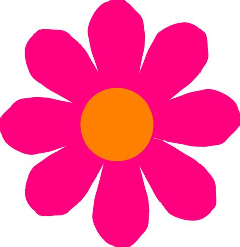Pink Flower Clipart pink flower clip at clker vector clip