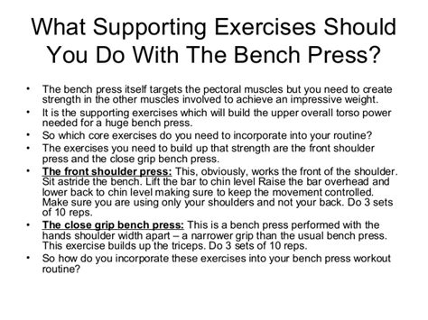 good bench press routine bench press workout routine beginners