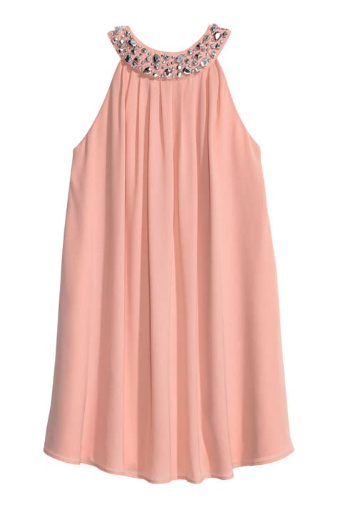 Tunik Set 2 In 1 beaded dress powder pink sale h m us