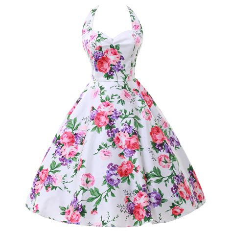 vintage 50s swing dresses floral 50s rockabilly dresses 2016 summer women short