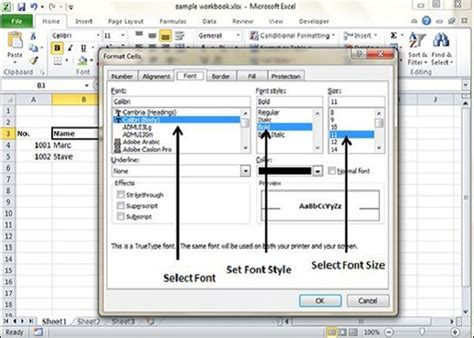 format excel cell using c excel vba get font size controlling the status barexcel