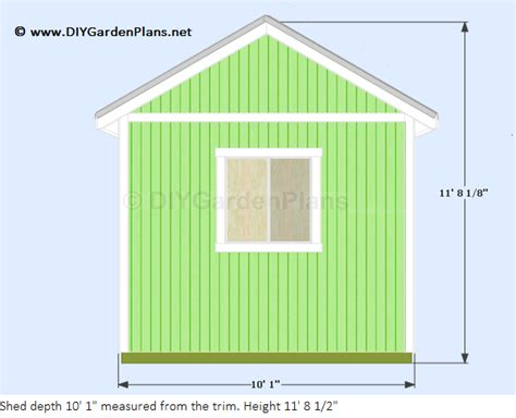 Shed X Treatment by Sheds Ottors 8 X 10 Gable Shed Plans