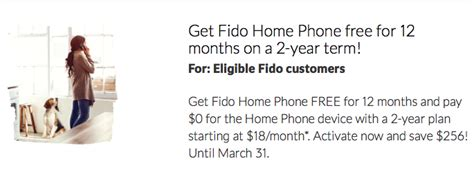 rogers fido promo free home phone for 12 months on 2