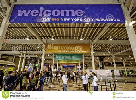 convention new york city 2011 new york city marathon expo at javits center editorial photography image 21905567