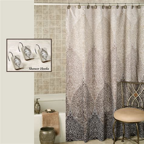designer shower curtain casablanca ombre moroccan design shower curtain