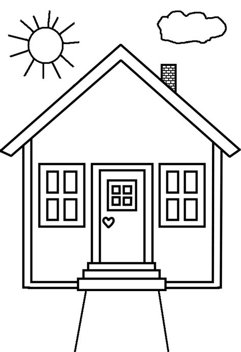 coloring house coloring pages neighborhood block house