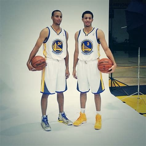 seth curry new year jersey steph and seth curry pose together in their warriors unis