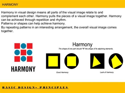 design harmony meaning basic design elements principles