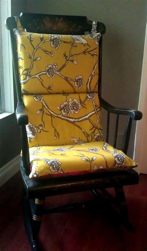 how to make rocking chair cushions rocking chair cushion patterns woodworking projects plans