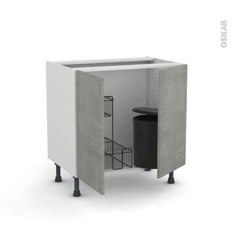 poubelle cuisine sous evier maison design bahbe