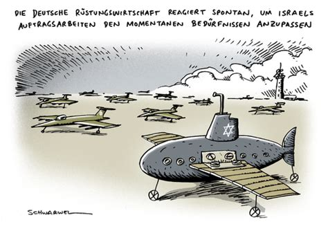 cartoon u boat luftwaffe israel uboot von schwarwel politik cartoon