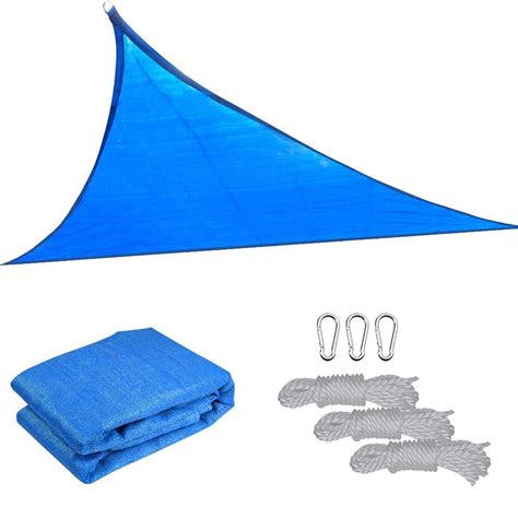 triangle sail sun shade 16 5 triangle sun shade sail yard canopy patio garden uv blocking color option ebay