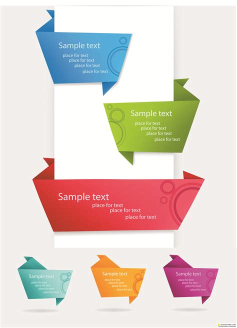 origami web banners vector 187