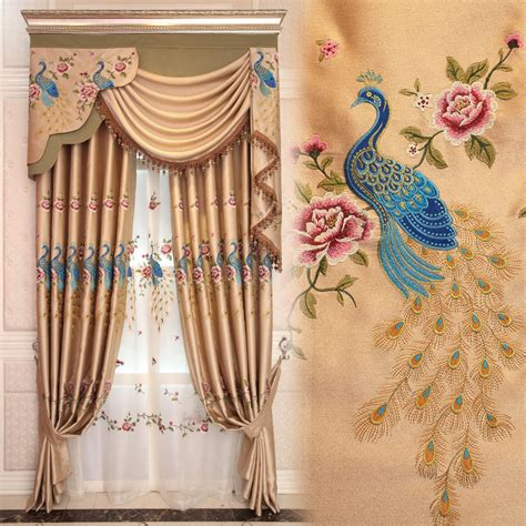 peacock window curtains custom curtains chinese style peacock luxuryclassic