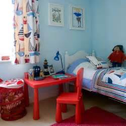 Boy Bedroom Nautical Boys Bedroom With Bright Red Desk Boys Bedroom
