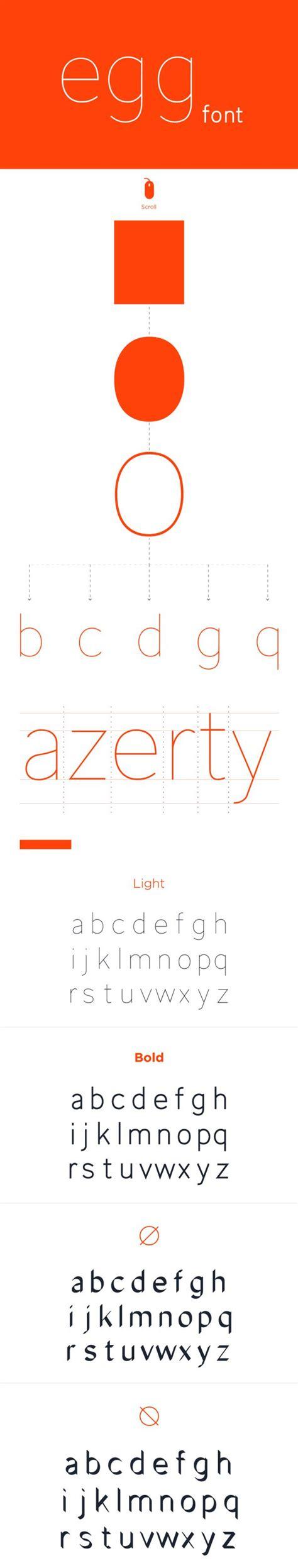 design kotf font behance 통해 비비안 베르에 의해 계란 글꼴 editorial design