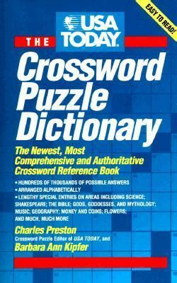 the usa today crossword puzzle book 14 charles preston usa today crossword puzzle dictionary charles preston