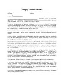 Letter Of Commitment Mortgage Sle Mortgage Commitment Letter Hashdoc