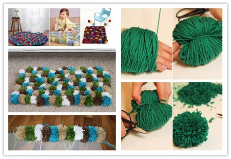 how to make a yarn pom pom rug how to make diy pom pom rugs tutorial craft ideas pom pom rug diy pom poms and rugs
