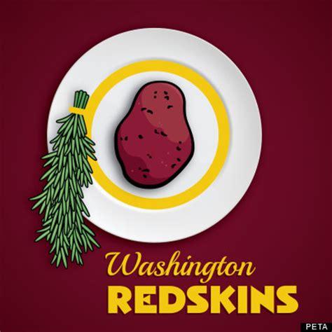 funny redskins logo peta tells washington redskins to keep name change logo