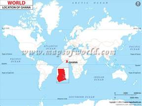 Ghana World Map by Where Is Ghana Location Of Ghana