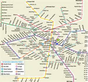 Delhi Metro Map by International Trade Fair 2016 With Digital India Theme