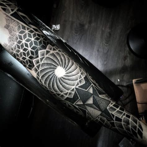 electronic inspired blackwork sleeve tattoo 75 blackwork designs for bold masculine ink