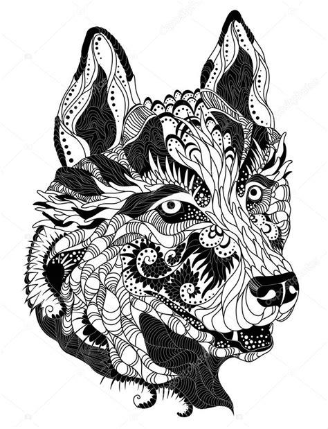 tatuaggi testa tatuaggio della testa husky vettoriali stock 169 diana