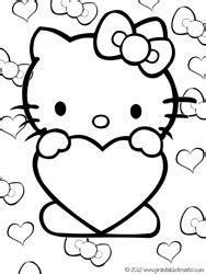 hello kitty heart coloring page hello kitty valentines coloring pages printable treats com