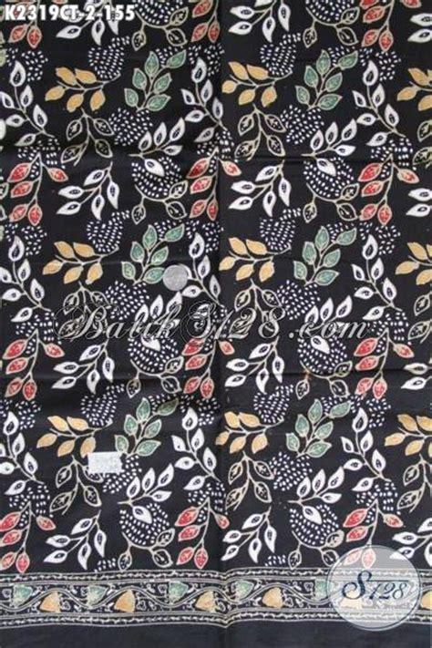 Kain Batik Tulis Lasem Motif Bunga sedia kain batik motif bunga dengan warna dasar hitam batik modern kwalitas halus proses cap
