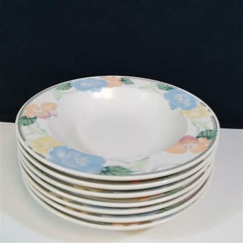7 Soup Salad Bowl mikasa intaglio rimmed soup salad bowl 9 1 4 quot set of 7