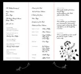 wedding program layouts wedding program wording for lost loved ones invitations ideas