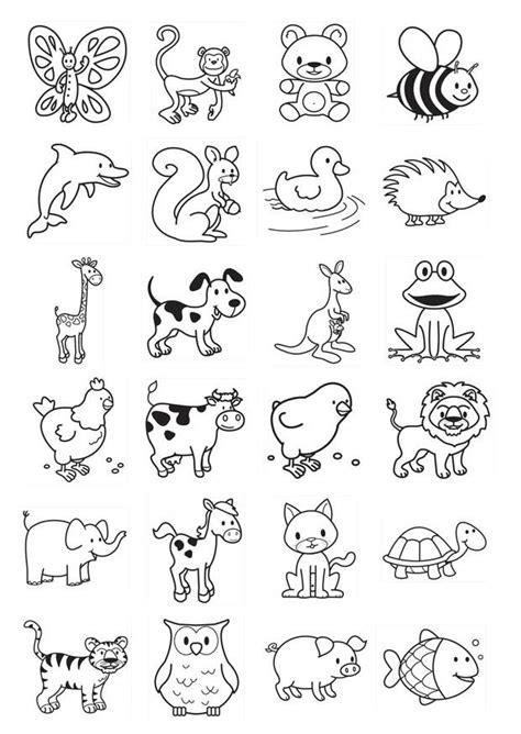 coloring pages with multiple animals kleurplaat icoontjes voor kleuters afb 20781